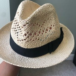 Paper Straw Hat with Bow